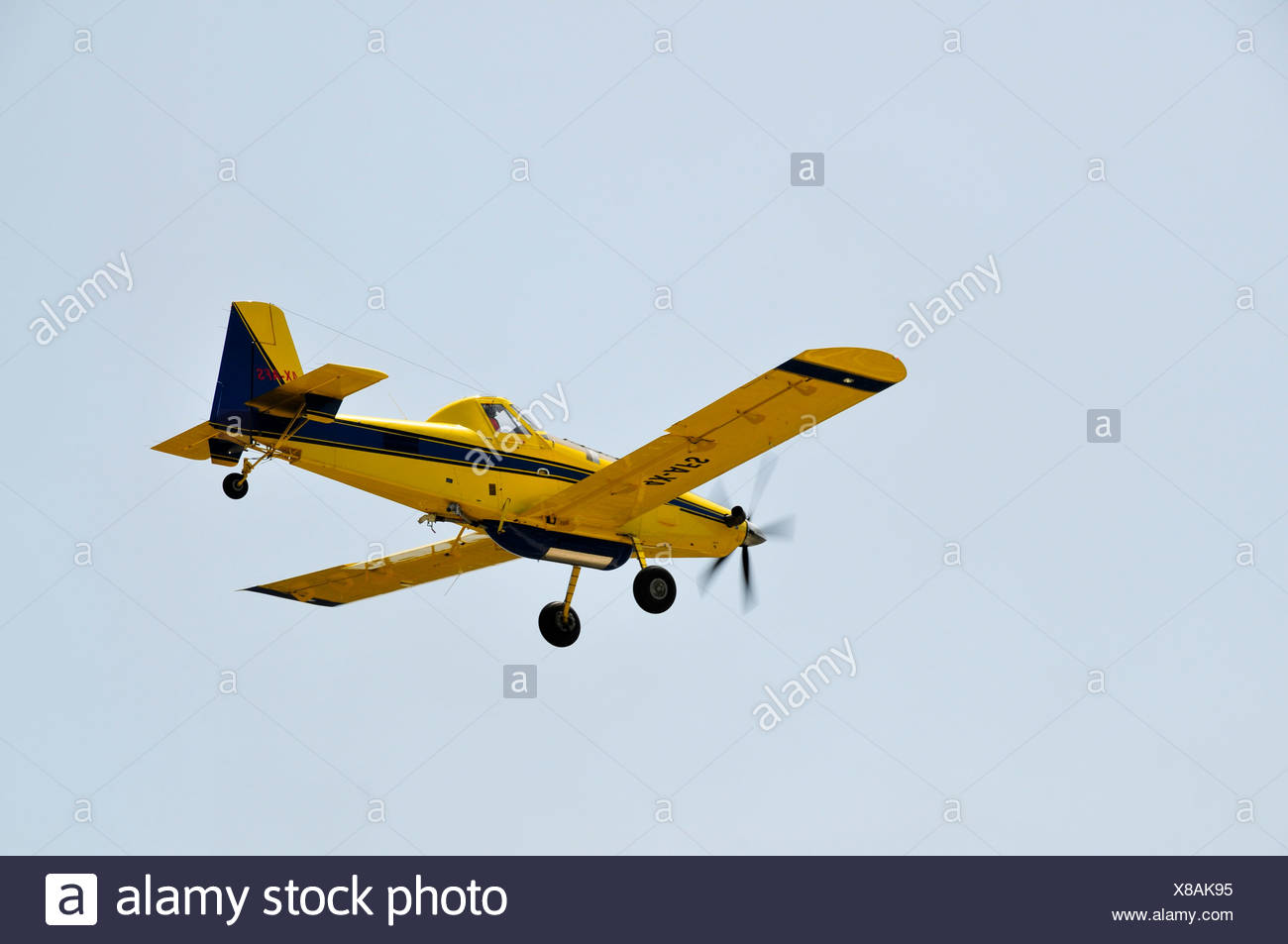 Chim-Nir Aviation Air Tractor AT-802 crop dusting plane used by the Israeli fire fighters to spread fire retardan - Stock Image