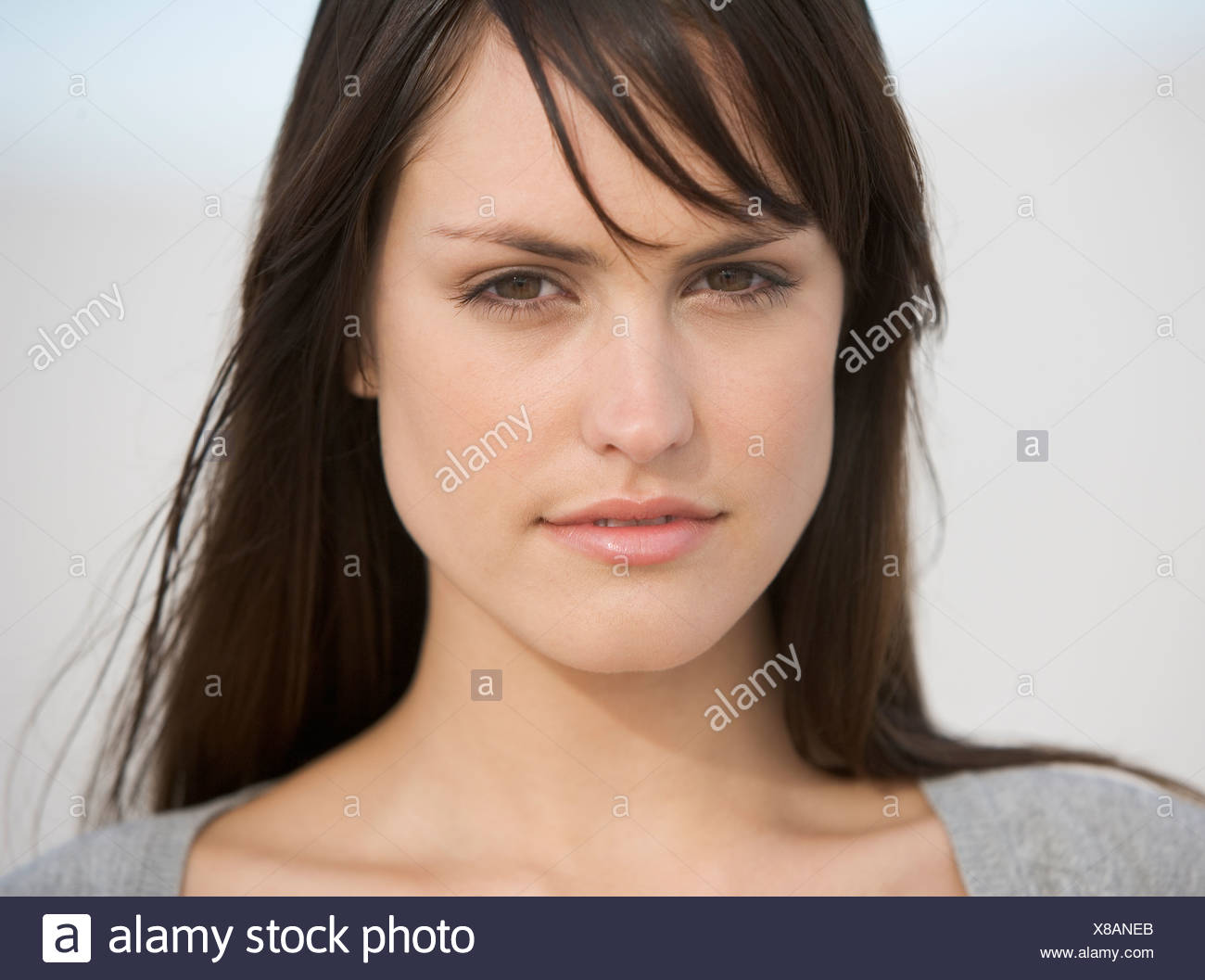 Portrait of a young woman - Stock Image