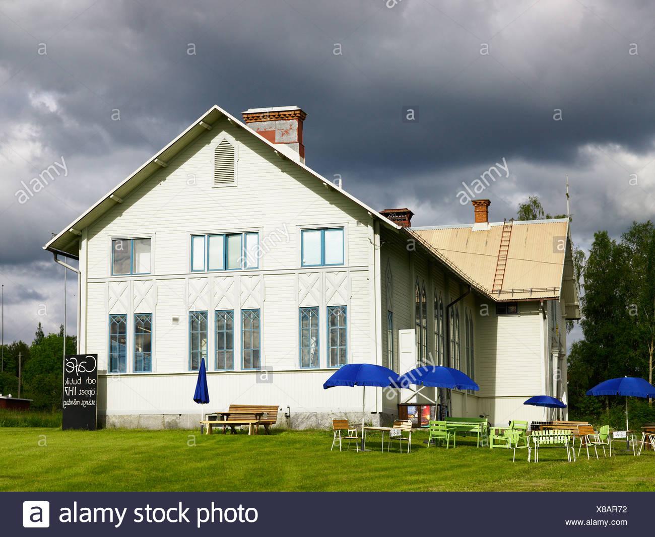 A cafe in Dalarna, Sweden. - Stock Image