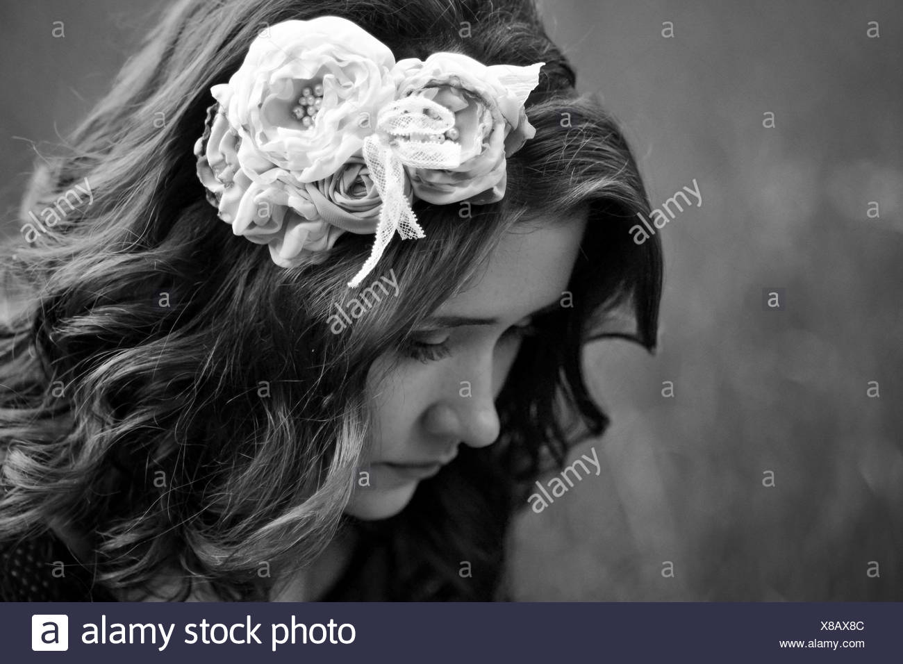 Beautiful Sad Pretty Girl Has Thought Of Problems Meaning Of Life