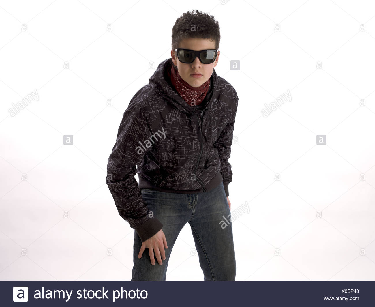Portrait of a teenager - Stock Image