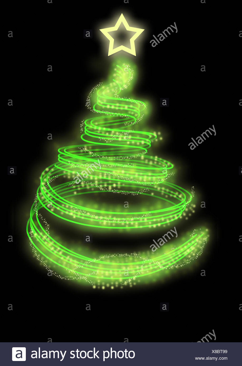 Spiral Christmas Tree Stock Photos & Spiral Christmas Tree Stock ...