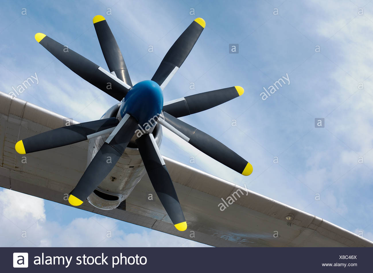 Propeller of an Antonov An-22 Stock Photo