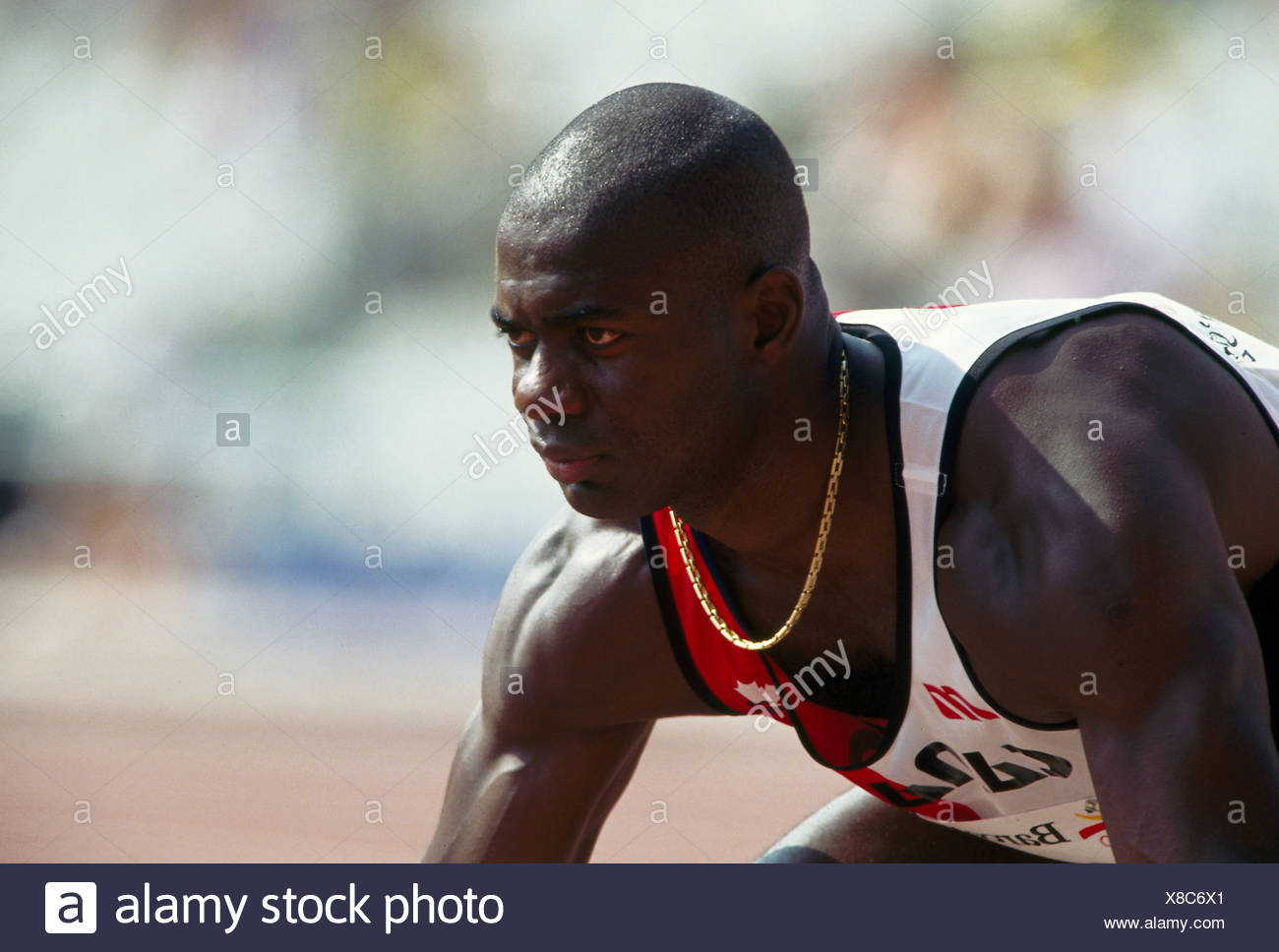 Johnson, Ben, * 30.12.1961, Canadian athlete (athletics), portrait, Olympic Games, Barcelona, 1992, Additional-Rights-Clearances-NA - Stock Image