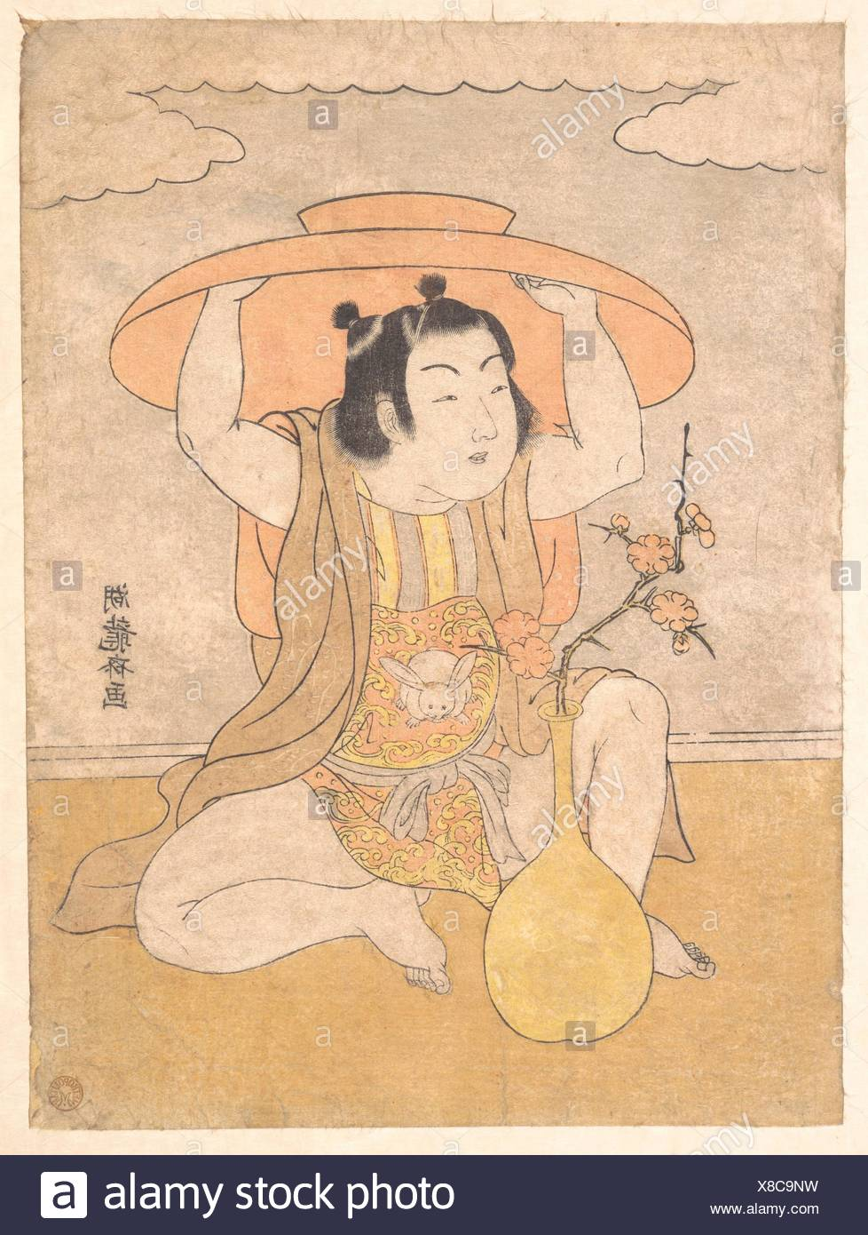 Artist: Isoda Koryusai (Japanese, 1735-ca. 1790); Period: Edo period  (1615-1868); Culture: Japan; Medium: Polychrome woodblock print; ink and