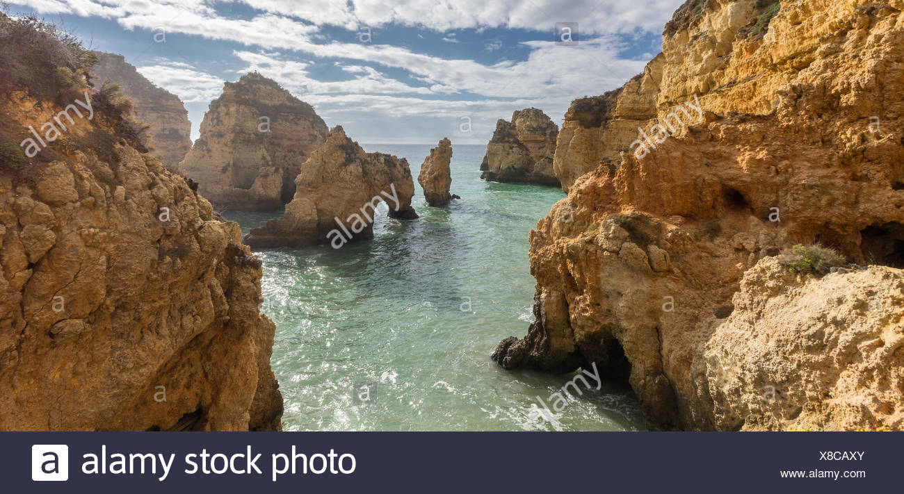 Portugal, Lagos, View of Ponta da Piedade - Stock Image