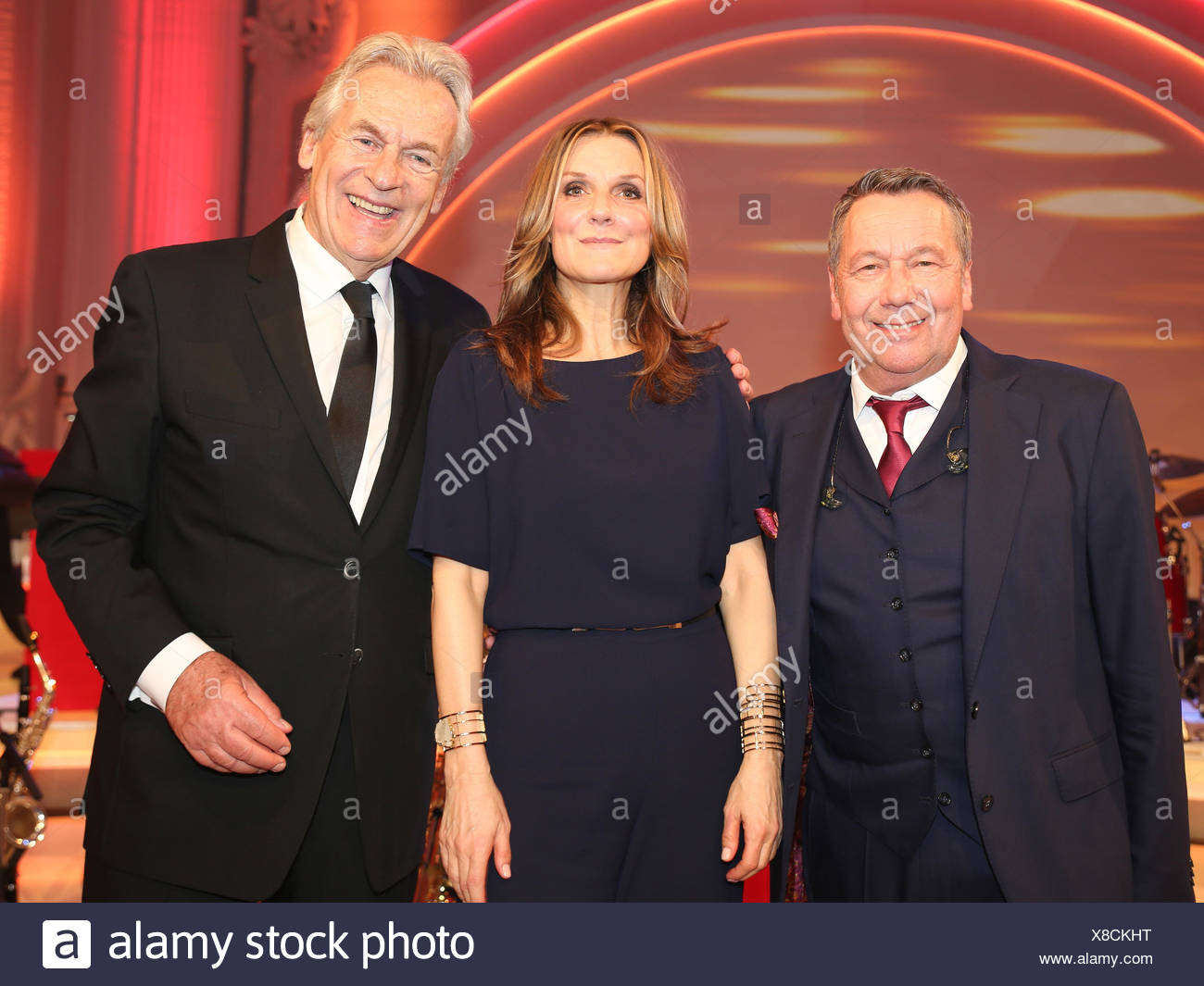 Roland Kaiser,Kim Fisher and Pepe Lienhard - Stock Image