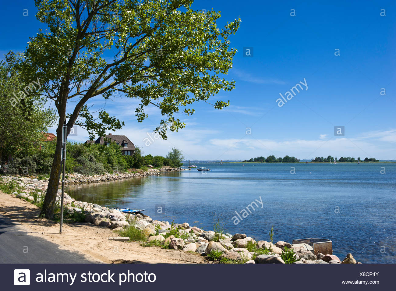 bay orther reede,lemkenhafen,insel fehmarn - Stock Image