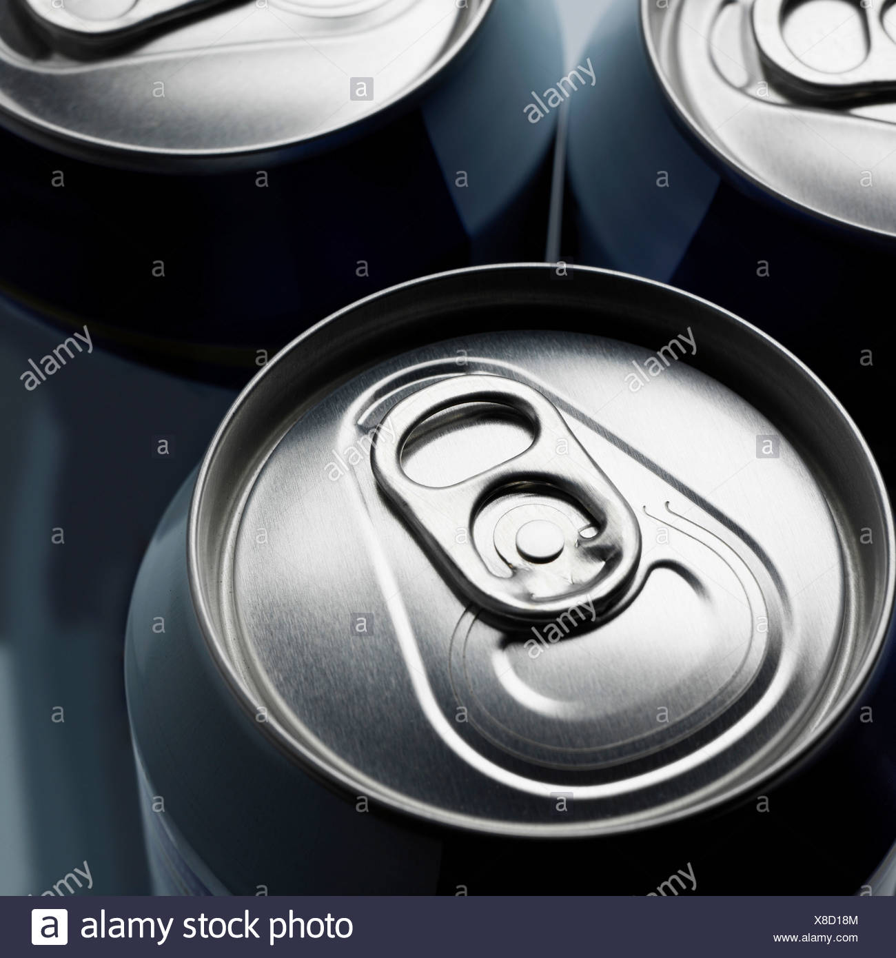 Unopened canned drink - Stock Image