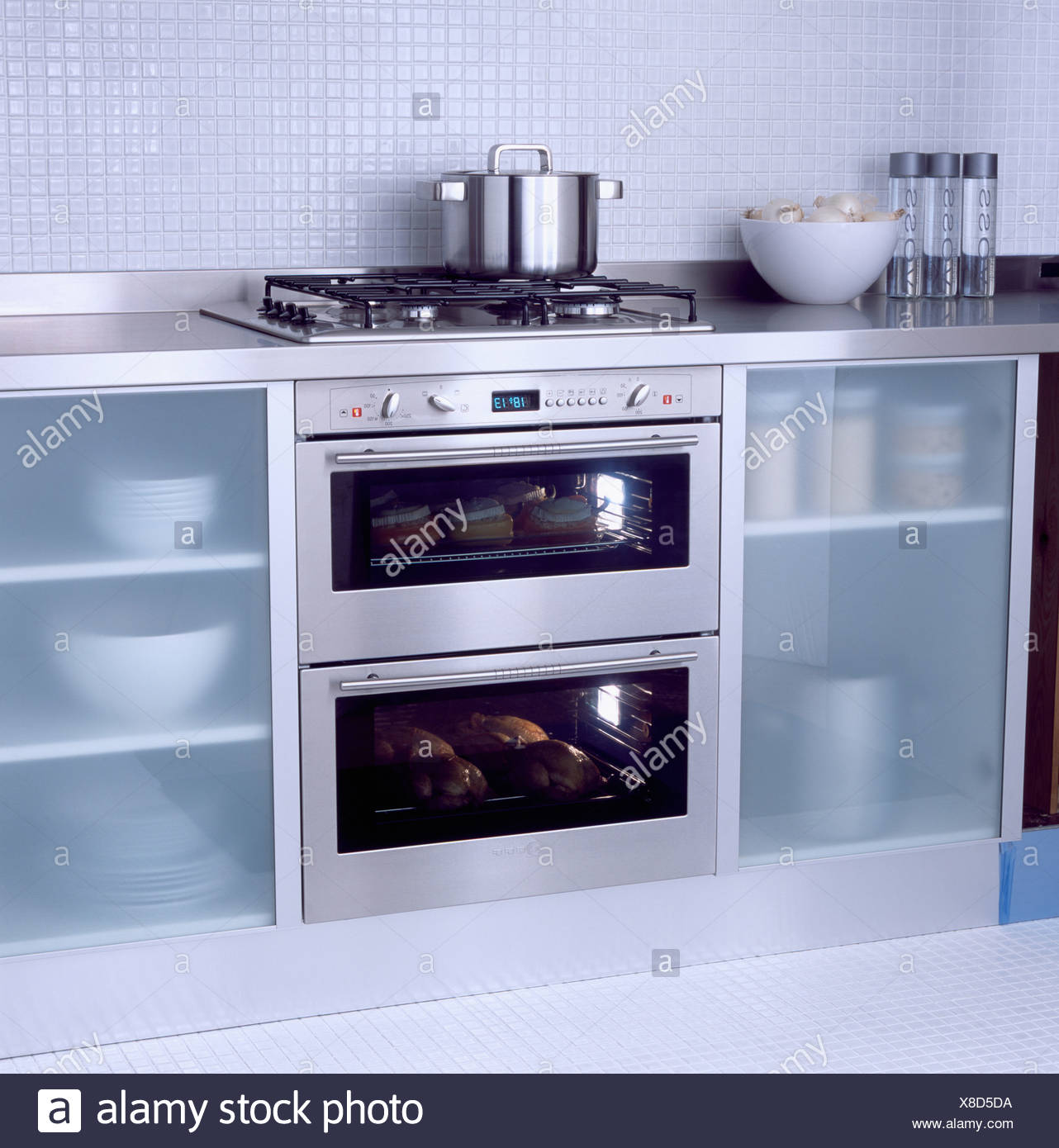 Glass Shelving Stainless Steel Oven In Stock Photos Glass Shelving