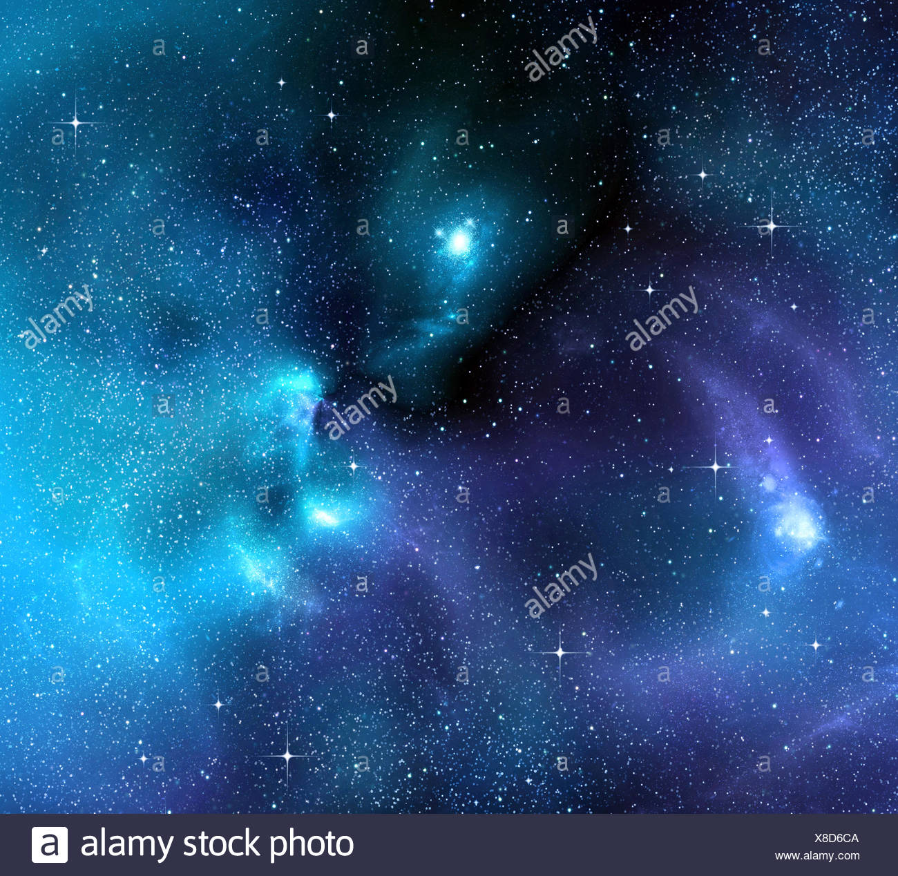 space deep galaxy - Stock Image