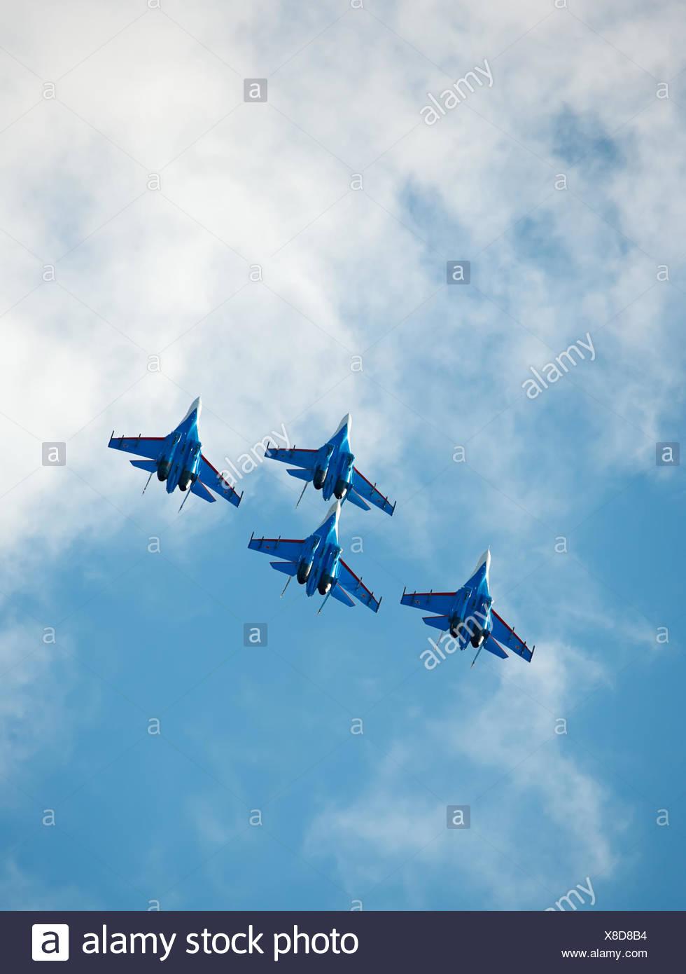 Aerobatic group. - Stock Image