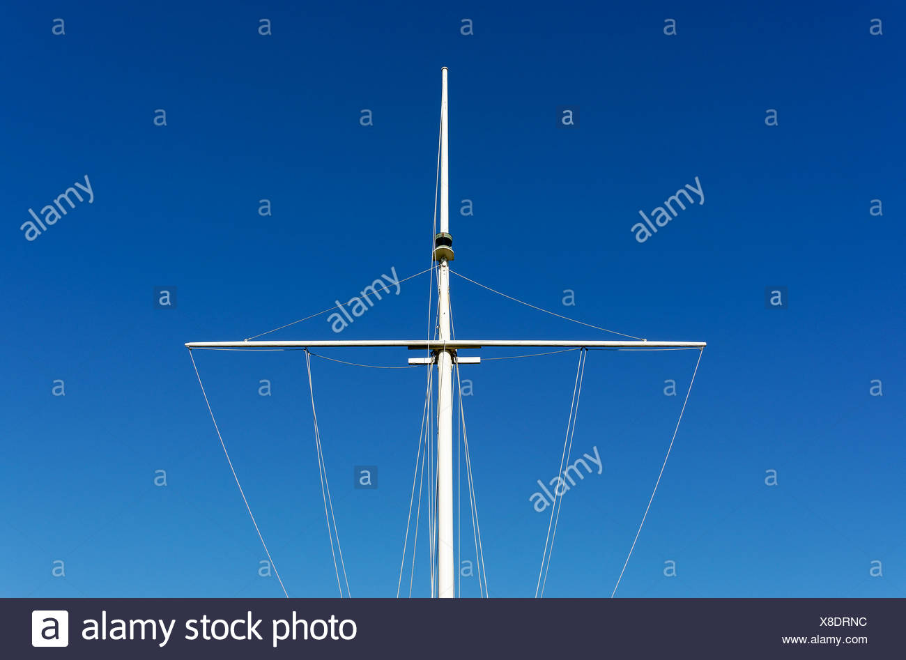 Mast of a boat. - Stock Image
