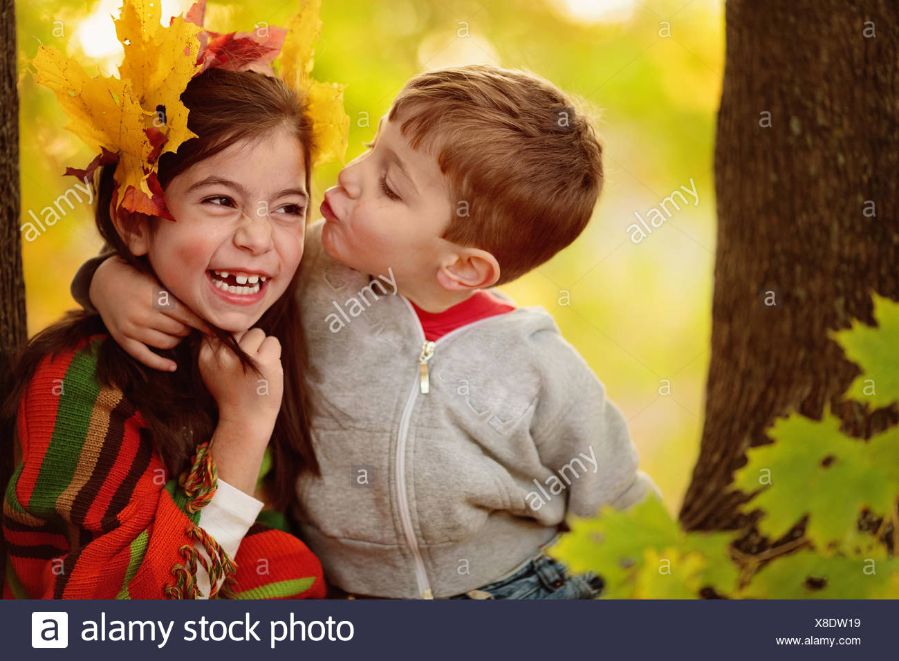 Girl Kissing Boy Stock Photos  Girl Kissing Boy Stock -7918