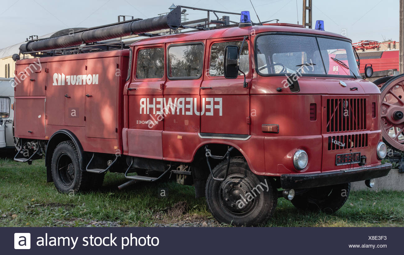 Classic Fire Engine W 50 - Stock Image