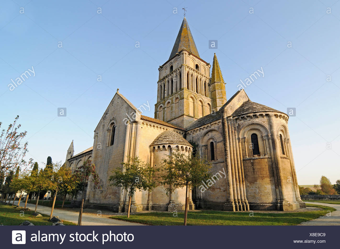 Eglise Saint Pierre church, French Way, Way of St James, Aulnay, Charente-Maritime, Poitou-Charentes, France, Europe Stock Photo