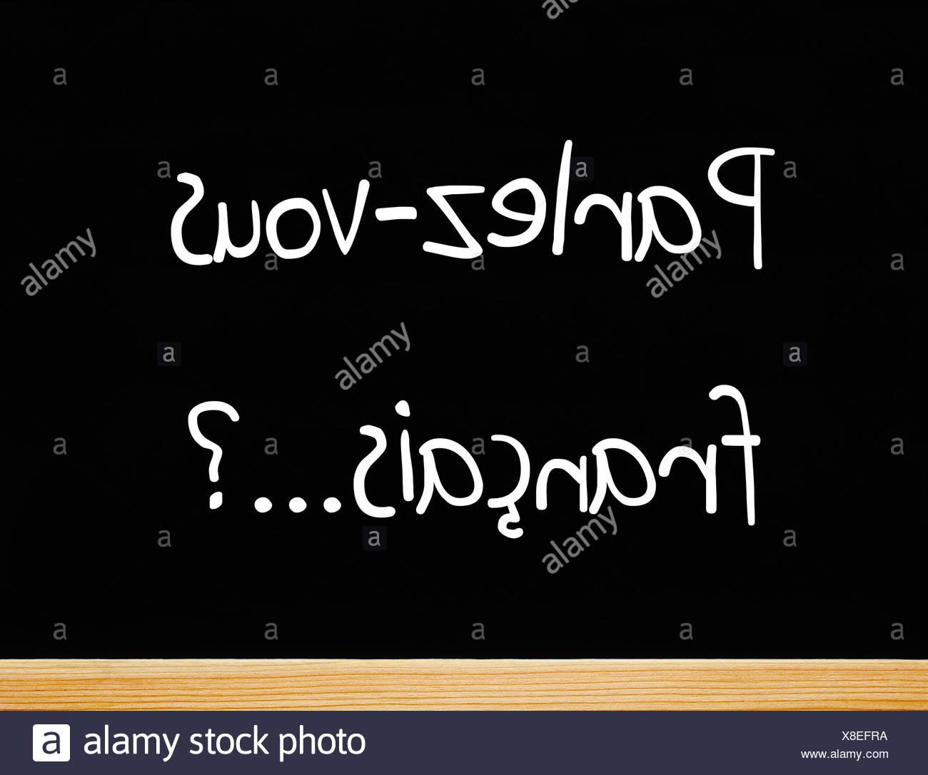 Parlez-vous francais ? Stock Photo
