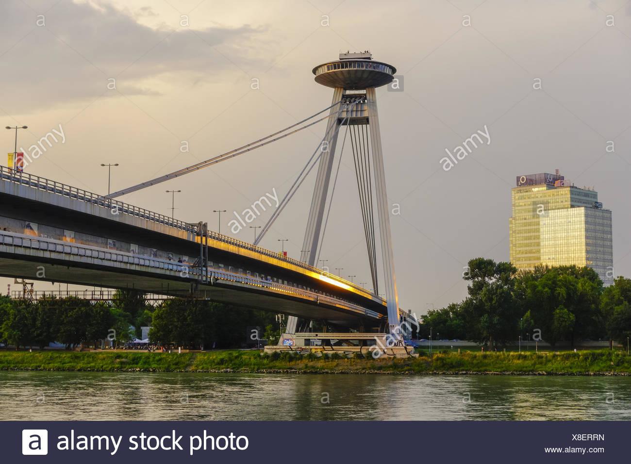 Bratislava, bridge Novy Most, Slovak Republic - Stock Image