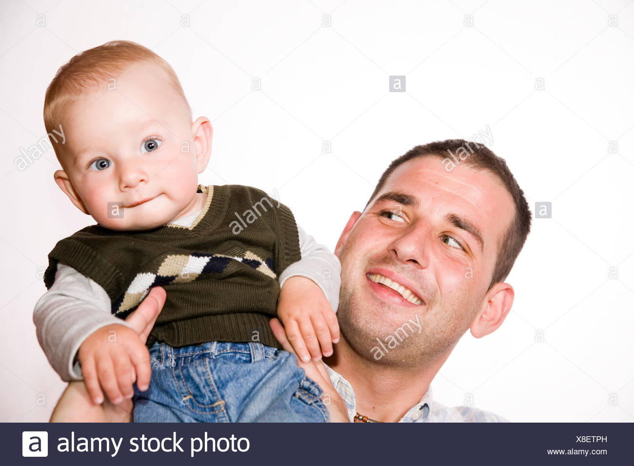 father and son - Stock Image