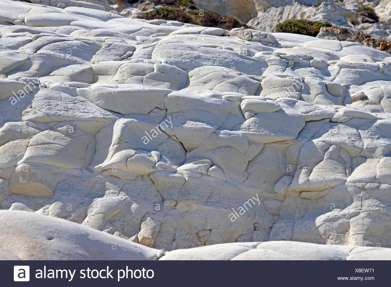 chalk cliffs Scala dei Turchi, Italy, Sicilia - Stock Image