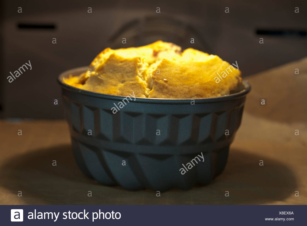 Ring cake at oven - Stock Image
