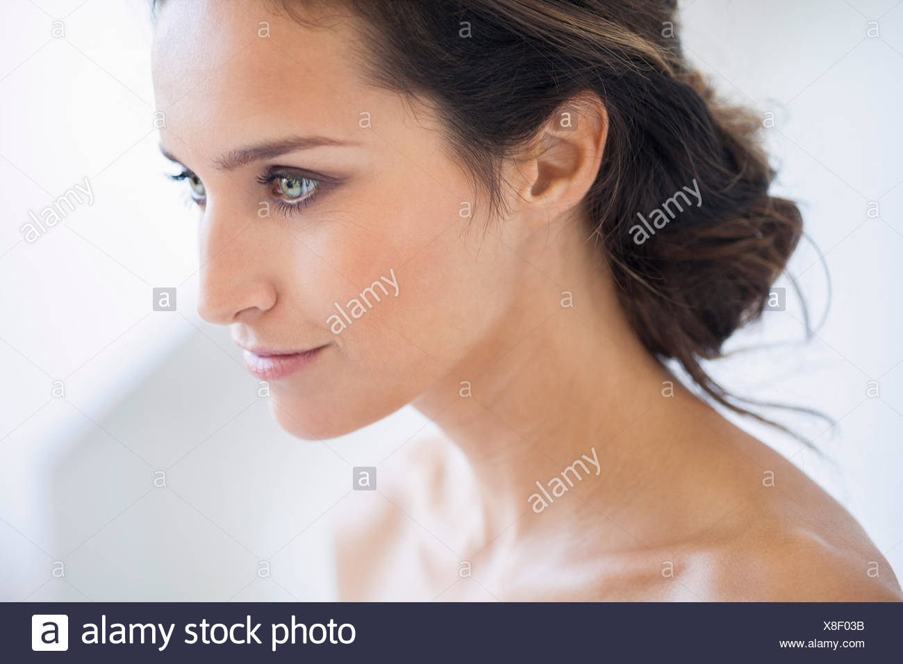 Portrait of a beautiful woman smiling - Stock Image