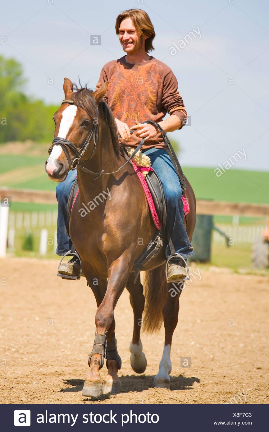 Horseman - Stock Image