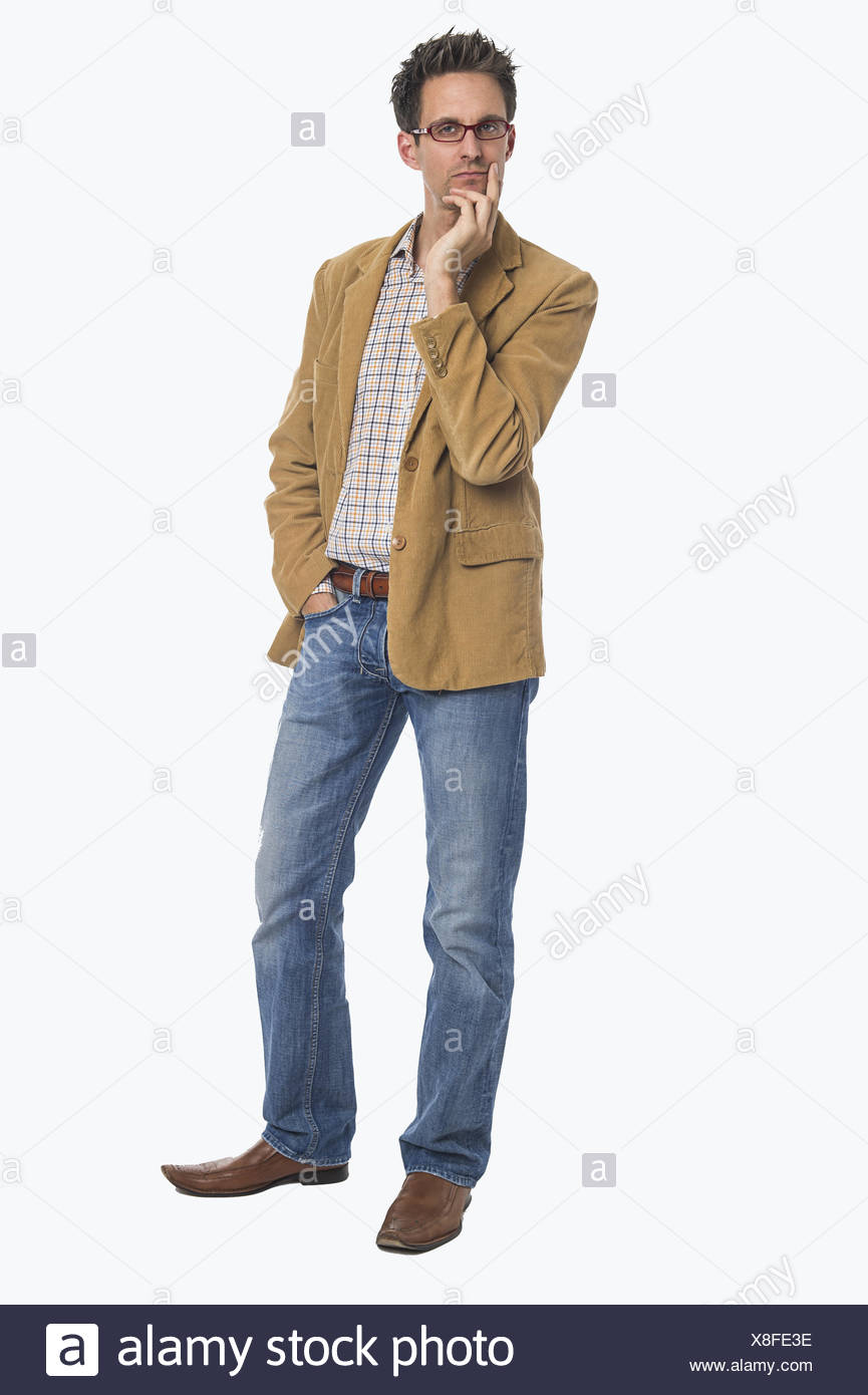 Exempted Pensive Man - Stock Image