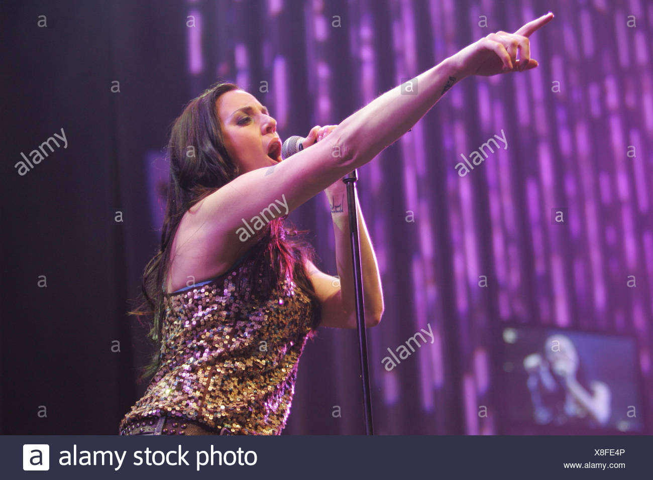 Melanie C, British singer and member of the girl band Spice Girls, live at the Energy Stars For Free in the Zurich Hallenstadio - Stock Image