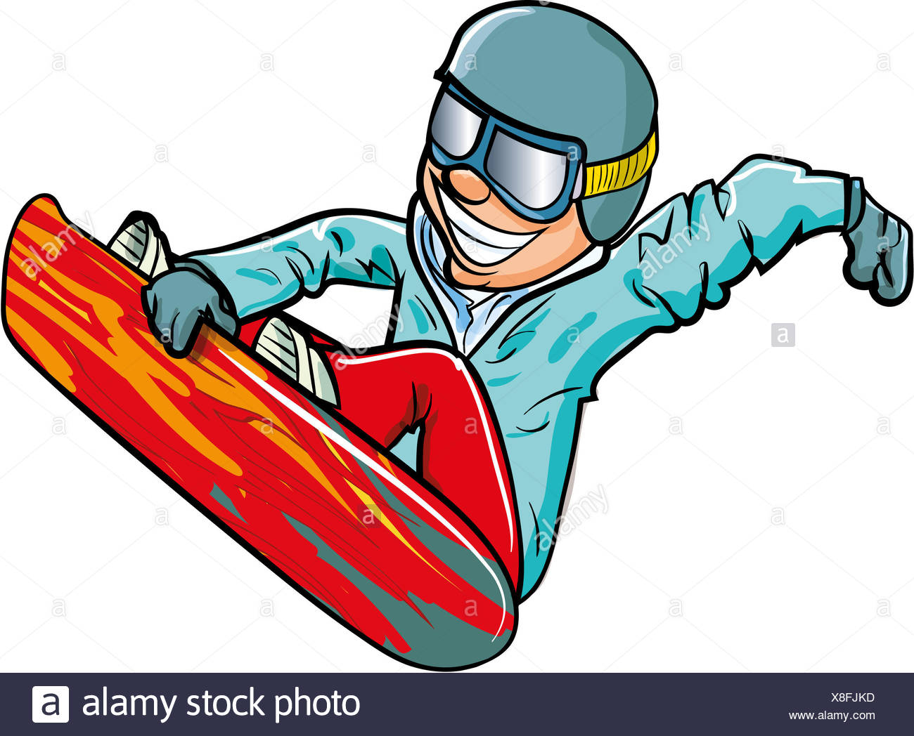 Cartoon Snowboarder High Resolution Stock Photography And Images Alamy