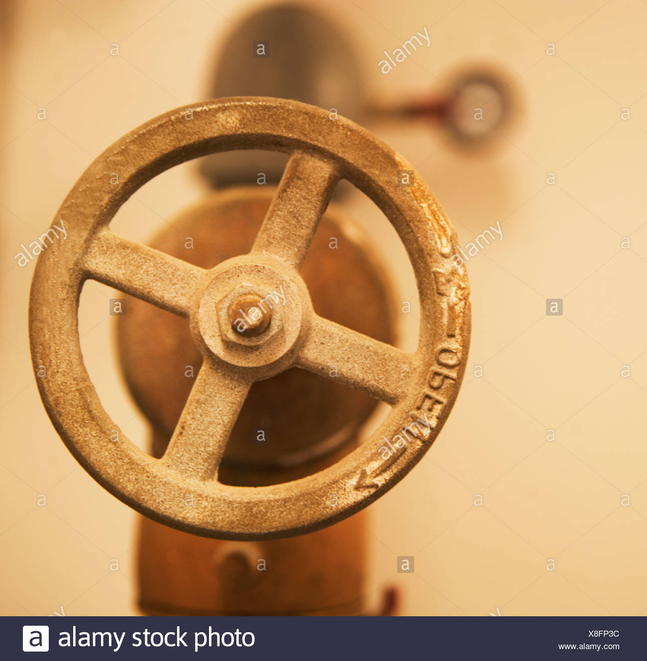 Close up of water valve - Stock Image