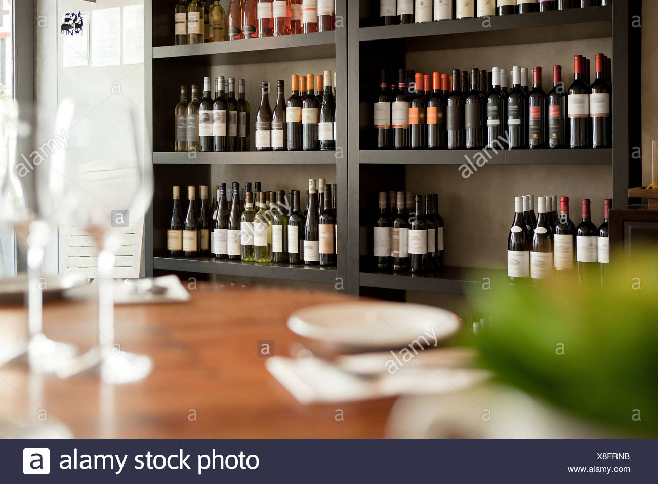 Wine Glasses On Shelf Restaurant High Resolution Stock Photography And Images Alamy