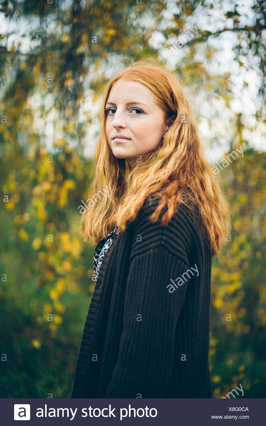 Portrait of girl (16-17) - Stock Image