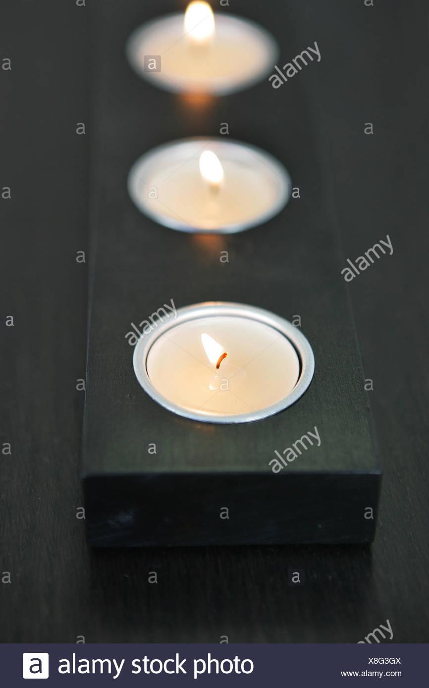Modern Modernity Vertical Design 3 Candles Candleholder Photophores Decorative Stock Photo Alamy