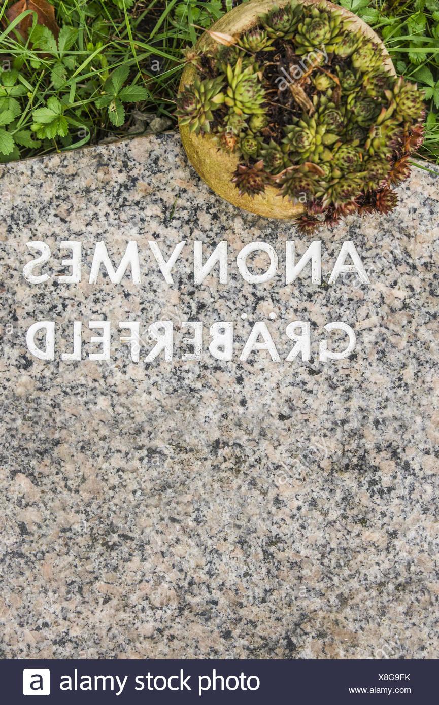 anonymous graves Stock Photo