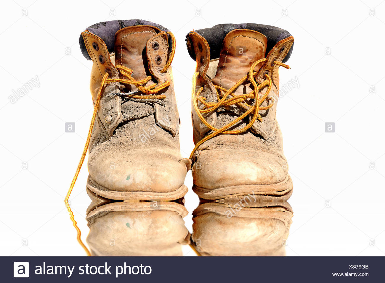 walking boots - Stock Image