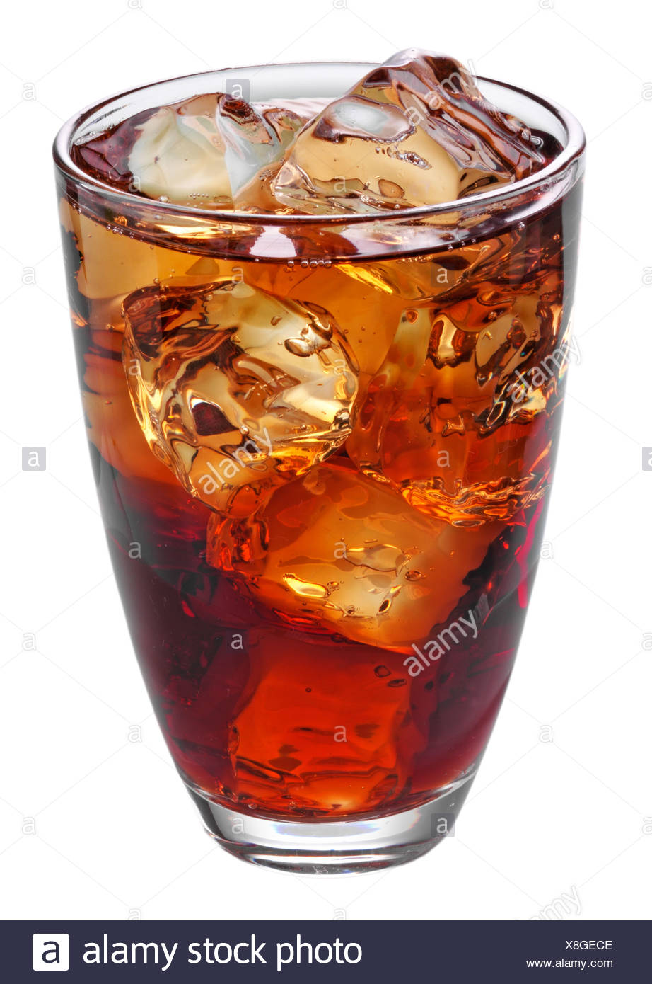 GLASS OF COLA CUT OUT - Stock Image