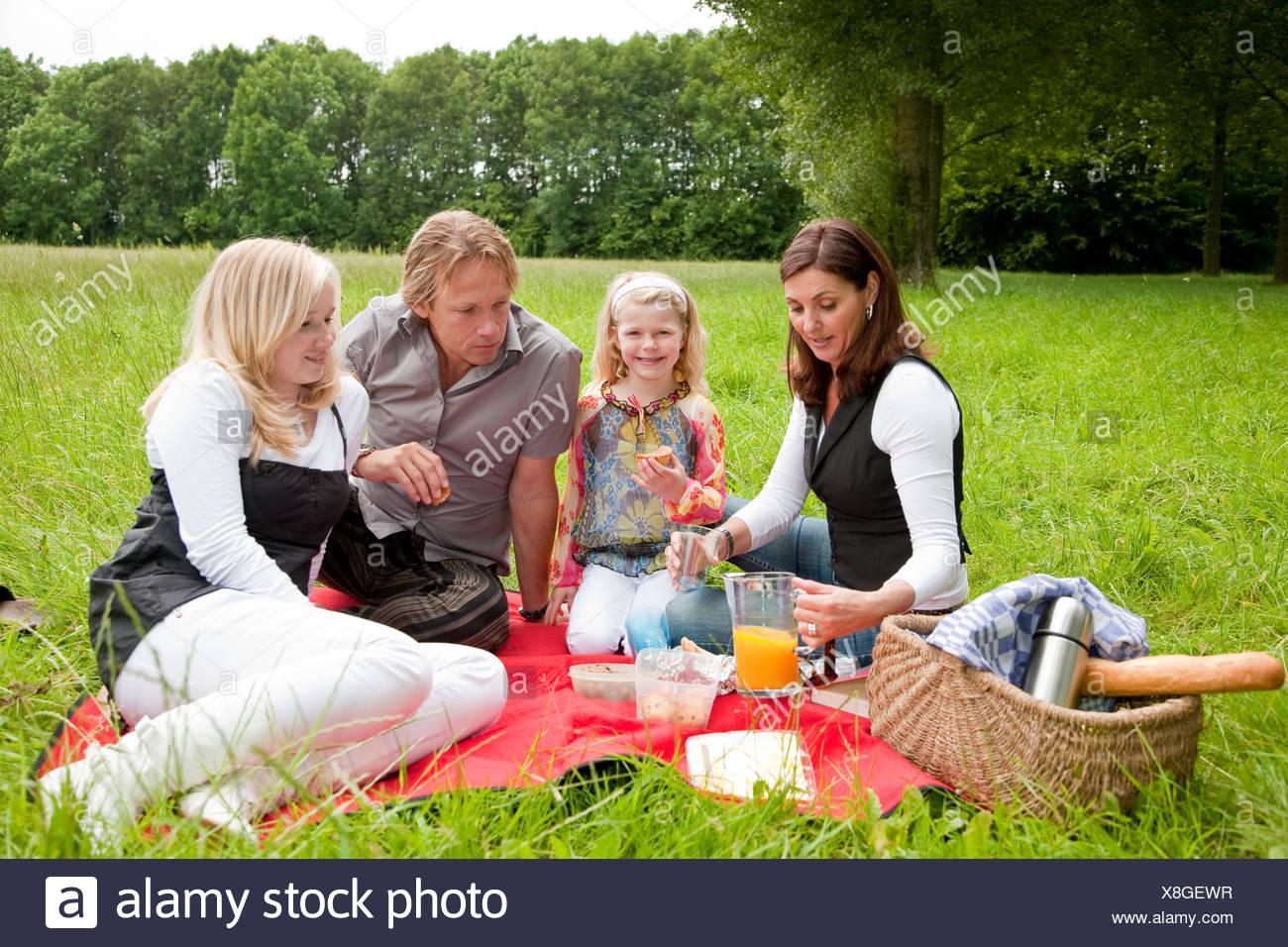 Family picnic - Stock Image