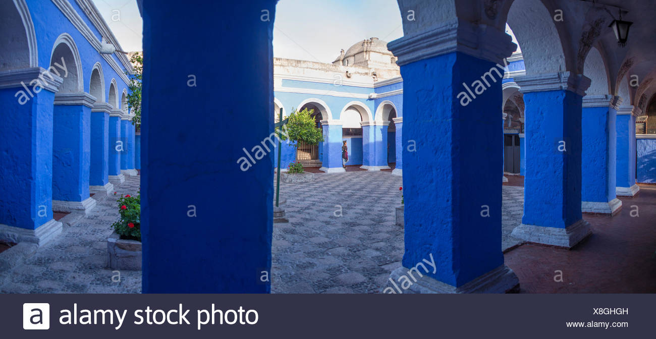 Cloister Santa Catalina in Arequipa, - Stock Image