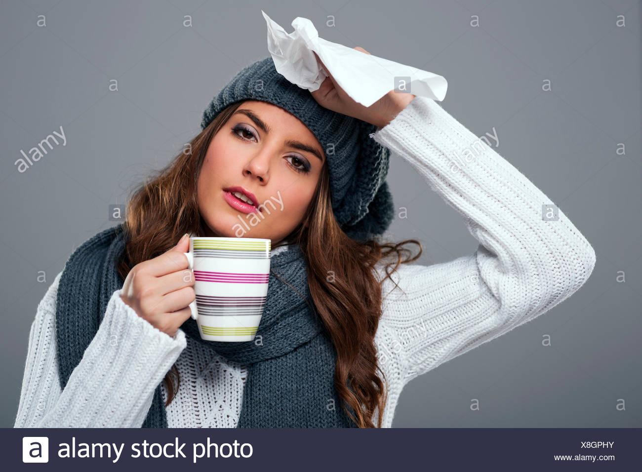 Season for cold and flu Debica, Poland - Stock Image