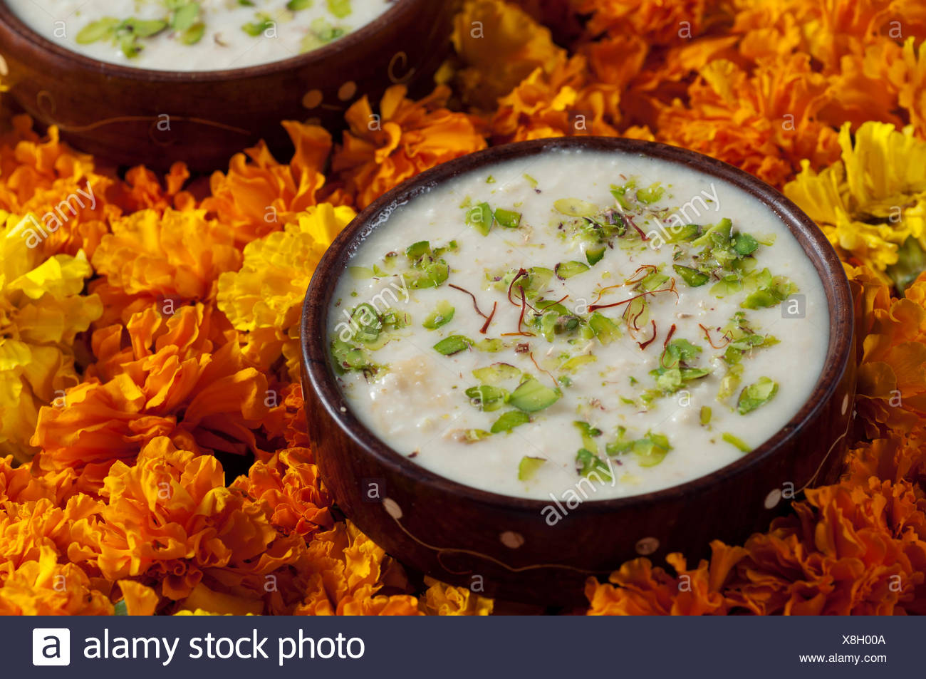Rabri in a bowl - Stock Image
