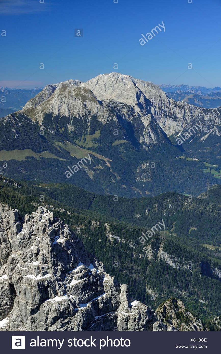 View from Hochkalter to Hoher Goell, Berchtesgaden National Park, Berchtesgaden Alps, Upper Bavaria, Bavaria, Germany Stock Photo