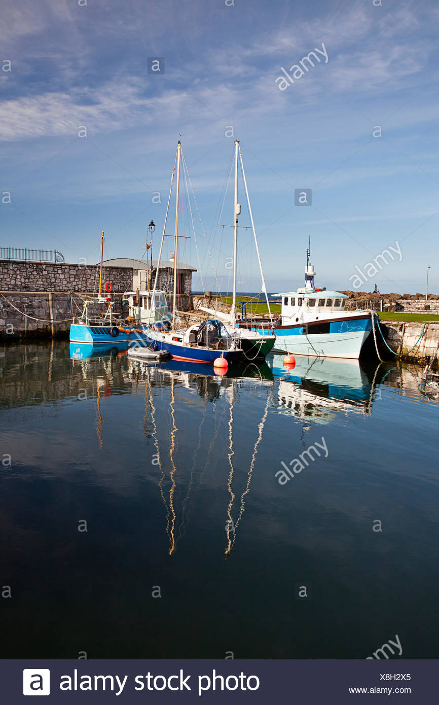 Boats In Carnlough Harbor