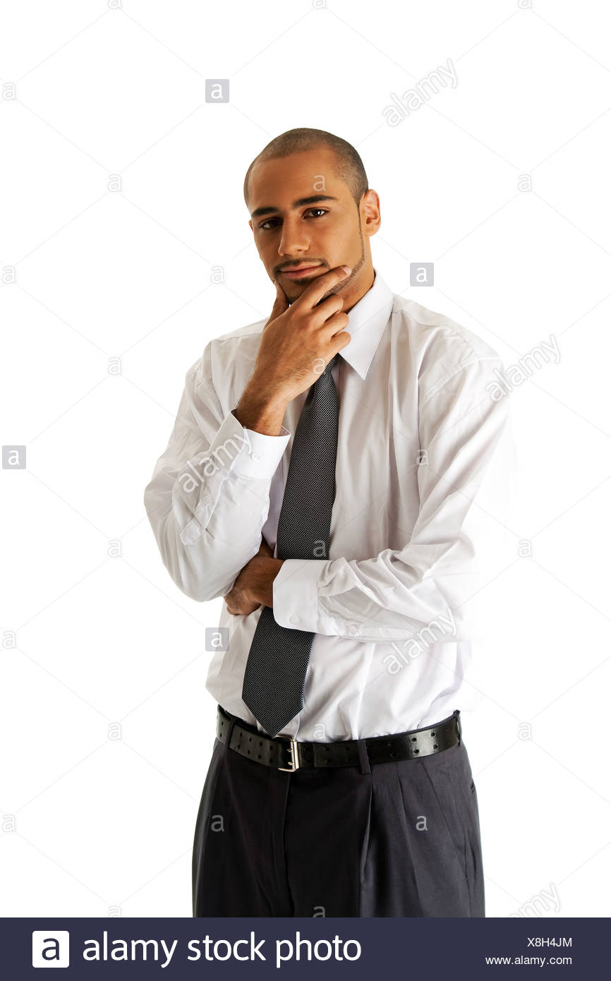 Handsome business man standing - Stock Image