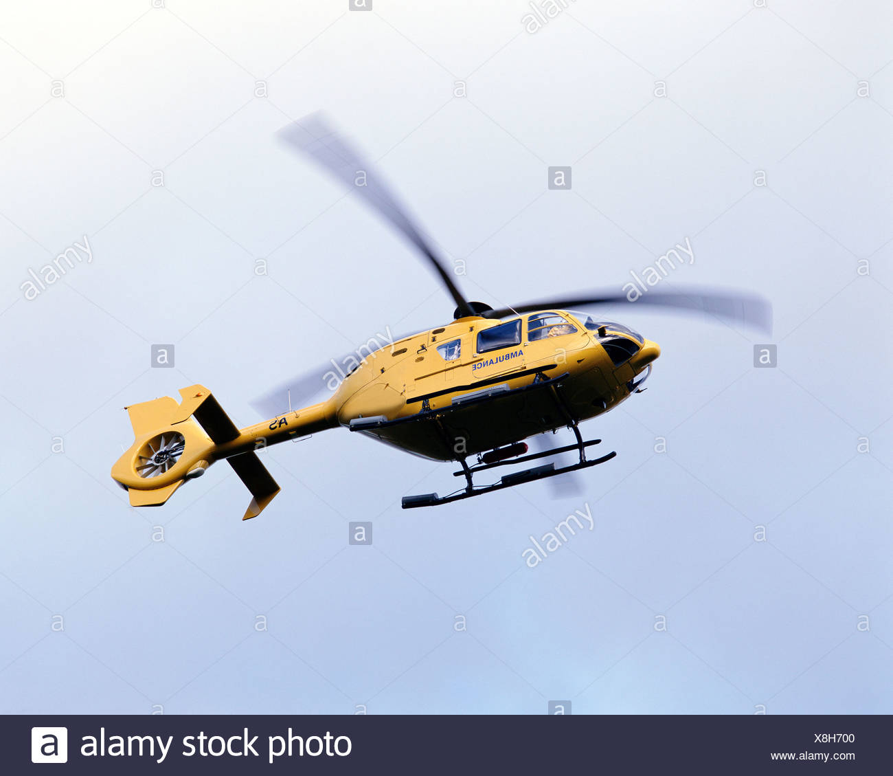 Helicopter from below - Stock Image