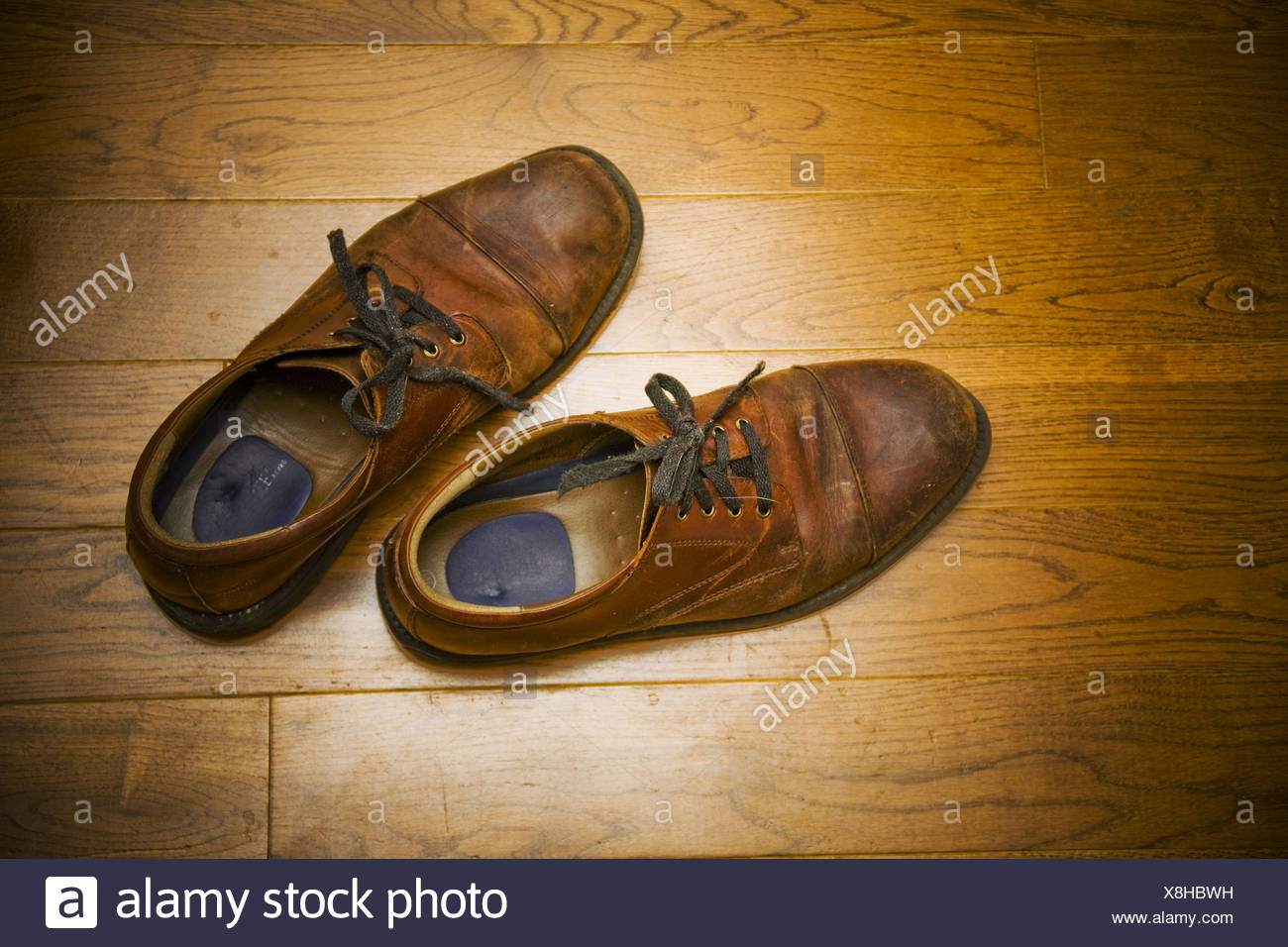A man´s pair of shoes. - Stock Image