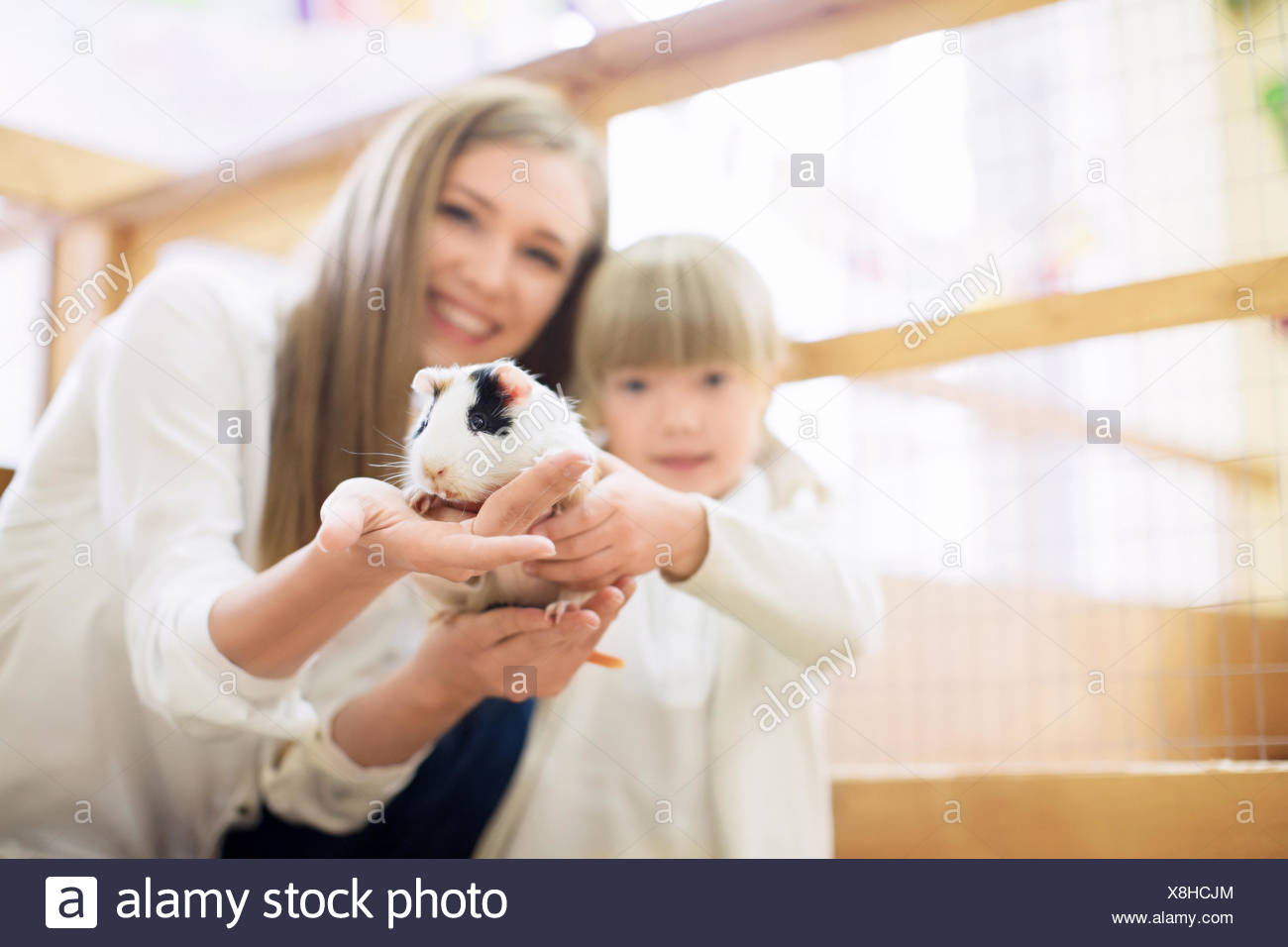 Smiling family - Stock Image