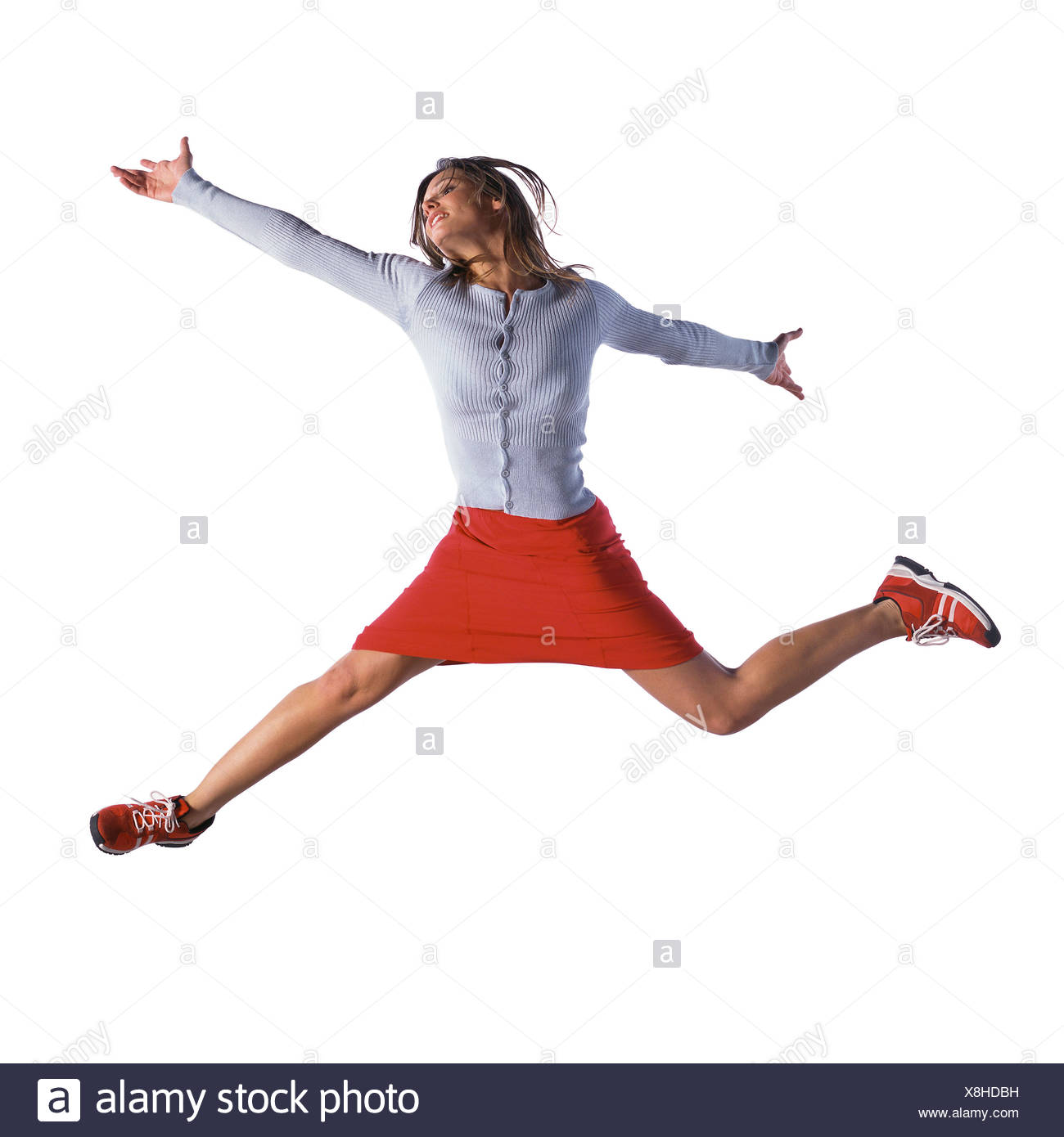 Woman jumping - Stock Image