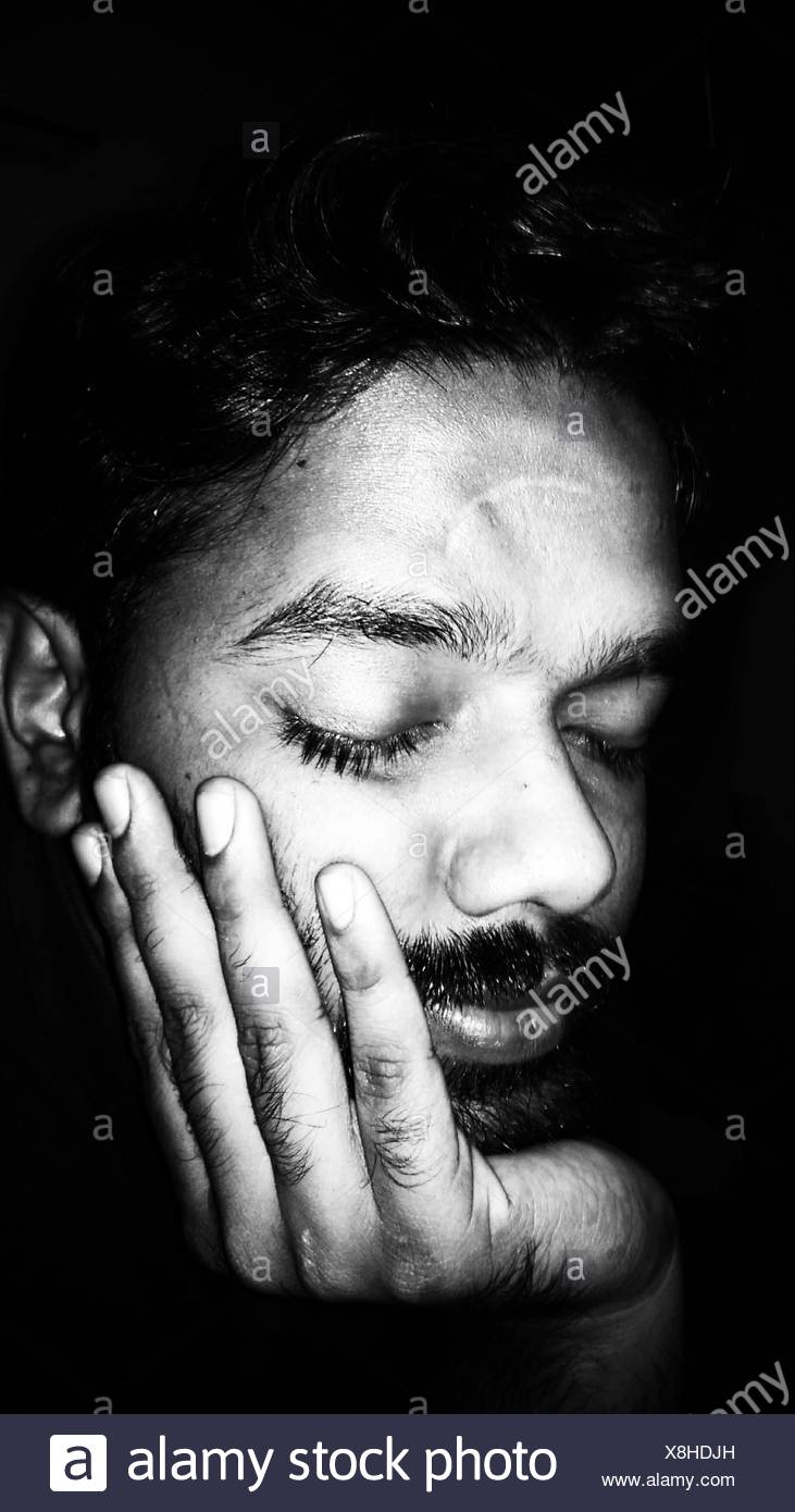 Hand On Chin Black And White Stock Photos Amp Images Alamy