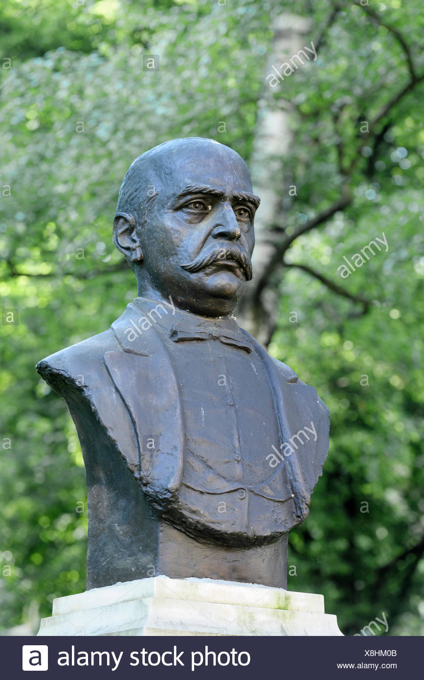 Jacob Bologa (1817-1888), Jurist und Abgeordneter, Astra Park, Sibiu, Hermannstadt, Siebenbürgen, Rumänien - Stock Image